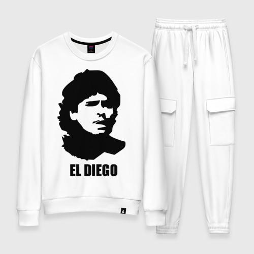 Женский костюм хлопок Диего Марадона