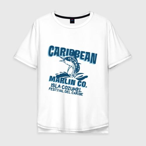 Мужская футболка хлопок Oversize Caribbean