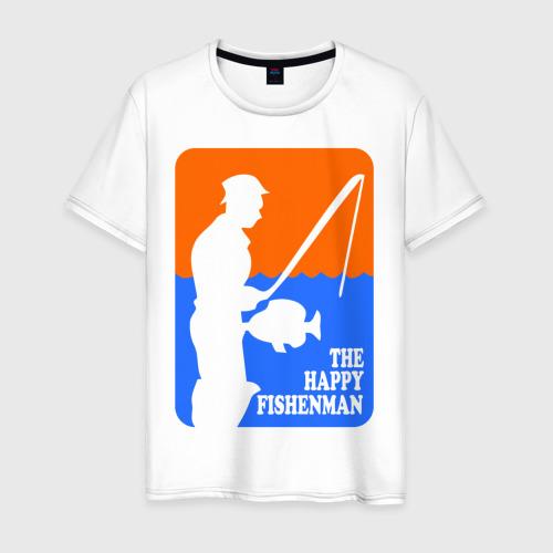 Мужская футболка хлопок Счастливый рыбак