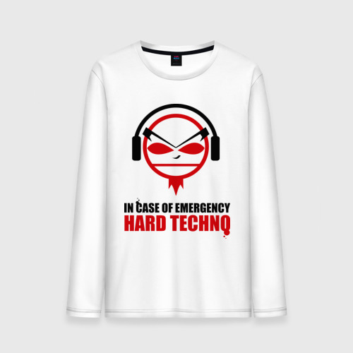 Мужской лонгслив хлопок Hard Techno