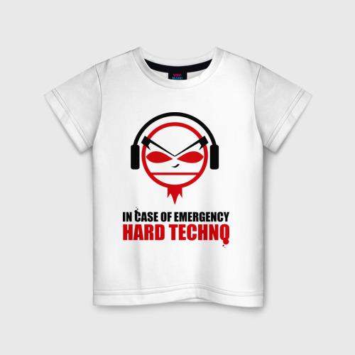 Детская футболка хлопок Hard Techno