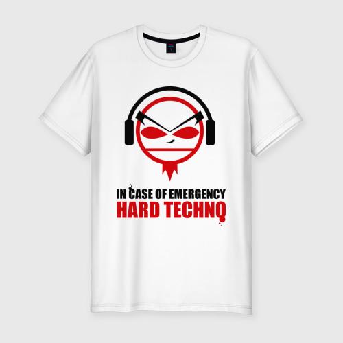 Мужская футболка хлопок Slim Hard Techno