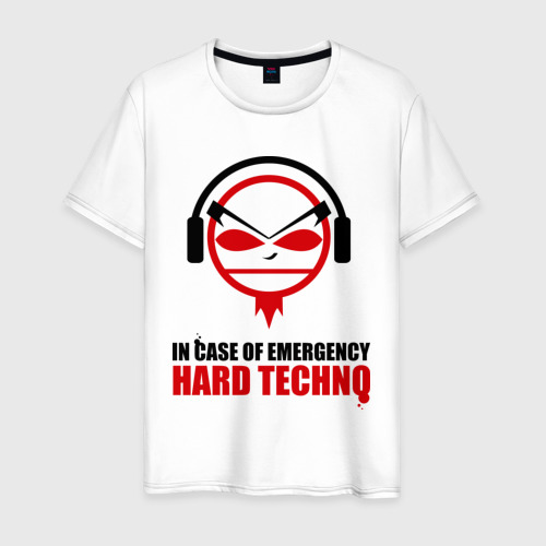 Мужская футболка хлопок Hard Techno