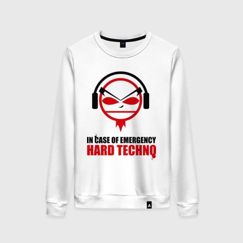 Женский свитшот хлопок Hard Techno