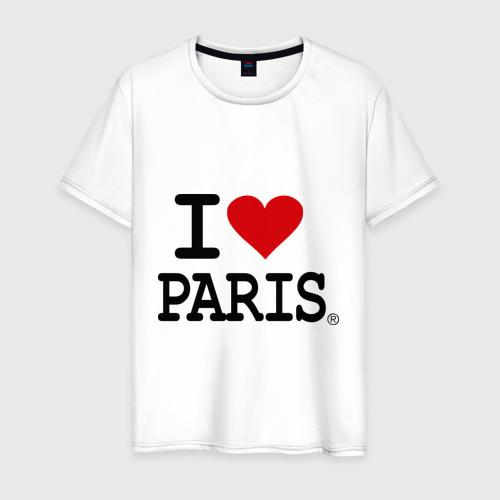 Мужская футболка хлопок I love Paris