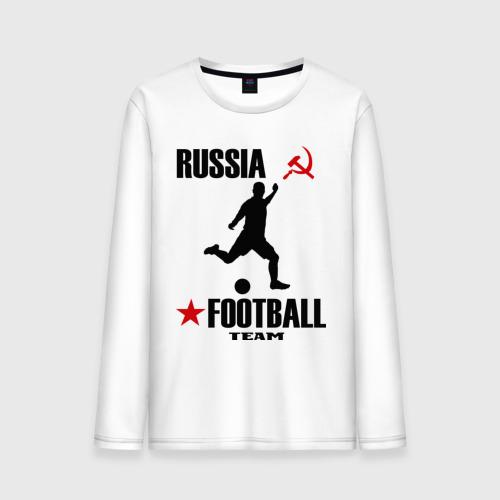 Мужской лонгслив хлопок Российский футбол