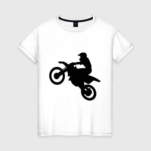 Женская футболка хлопок Мотоцикл (мотокросс)