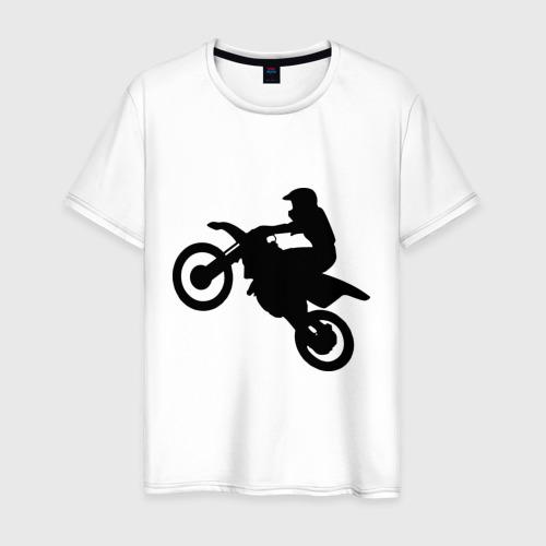 Мужская футболка хлопок Мотоцикл (мотокросс)