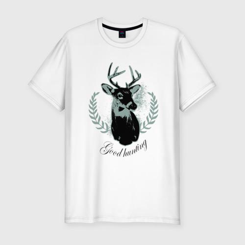 Мужская футболка хлопок Slim Доброй охоты