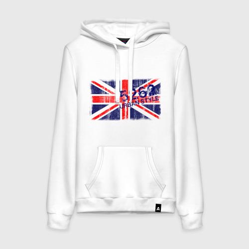 Женская толстовка хлопок England Urban flag