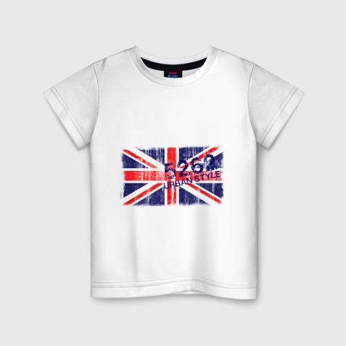 Детская футболка хлопок England Urban flag