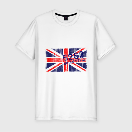 Мужская футболка хлопок Slim England Urban flag
