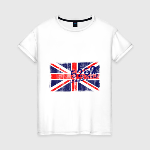 Женская футболка хлопок England Urban flag