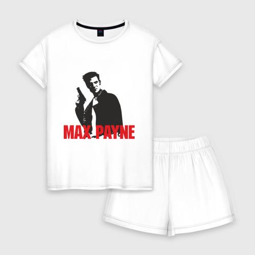 Женская пижама с шортиками хлопок Max Payne (2)