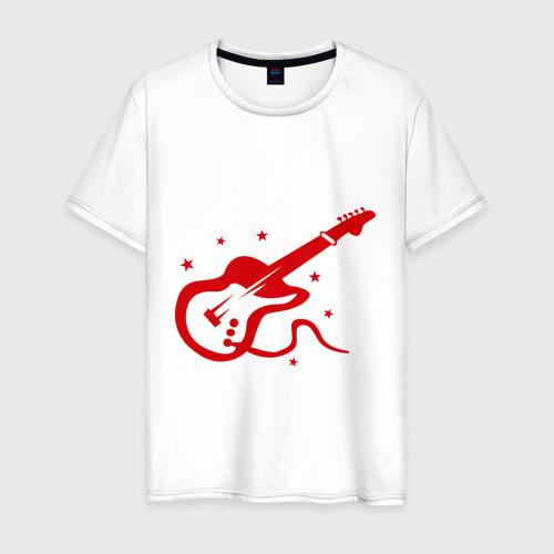 Мужская футболка хлопок Гитaра