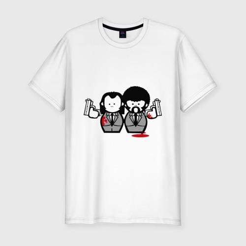 Мужская футболка хлопок Slim Криминальное Чтиво