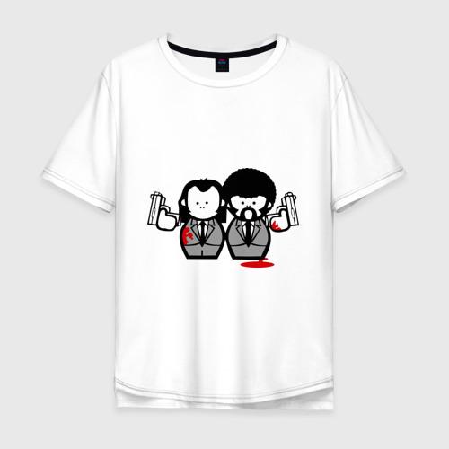 Мужская футболка хлопок Oversize Криминальное Чтиво