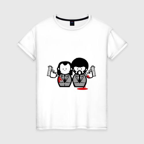 Женская футболка хлопок Криминальное Чтиво