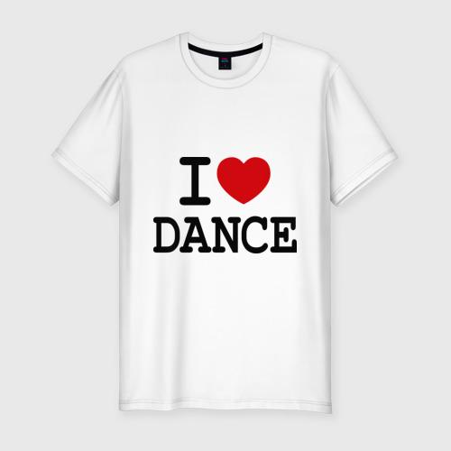 Мужская футболка хлопок Slim I love dance