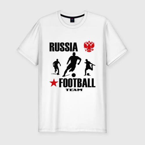 Мужская футболка хлопок Slim Российская футбольная команда