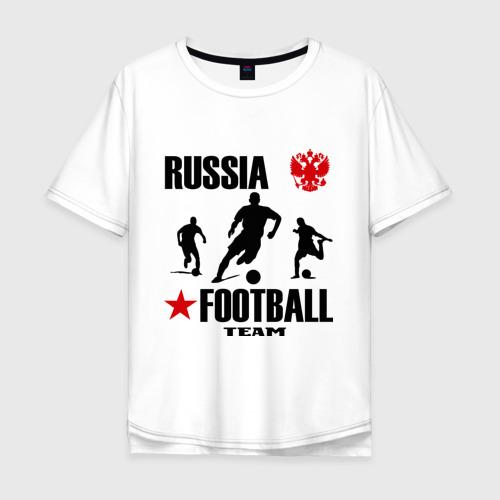 Мужская футболка хлопок Oversize Российская футбольная команда