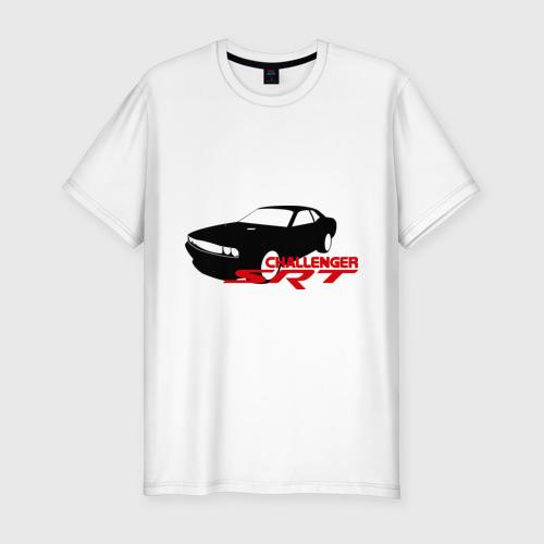 Мужская футболка хлопок Slim Dodge challenger srt