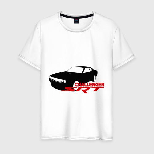 Мужская футболка хлопок Dodge challenger srt