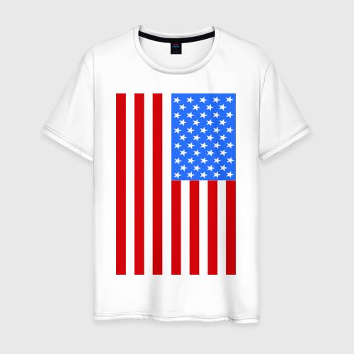 Мужская футболка хлопок Американский флаг