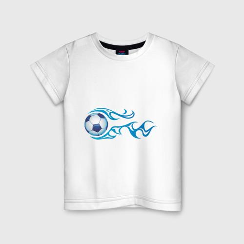 Детская футболка хлопок Football Blue