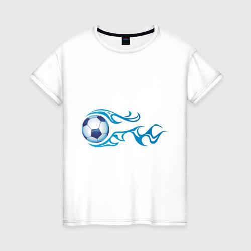 Женская футболка хлопок Football Blue