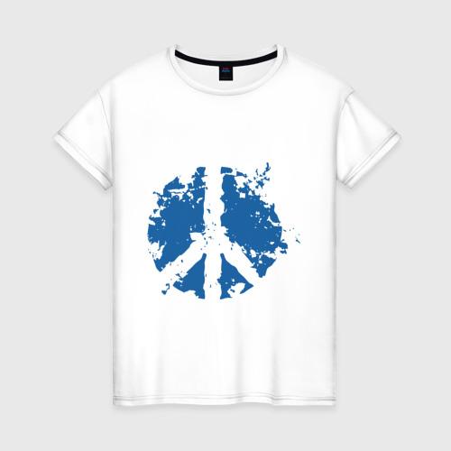 Женская футболка хлопок Peace мир