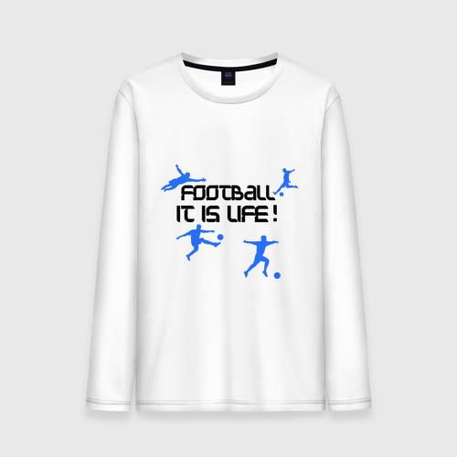 Мужской лонгслив хлопок Football it is live!