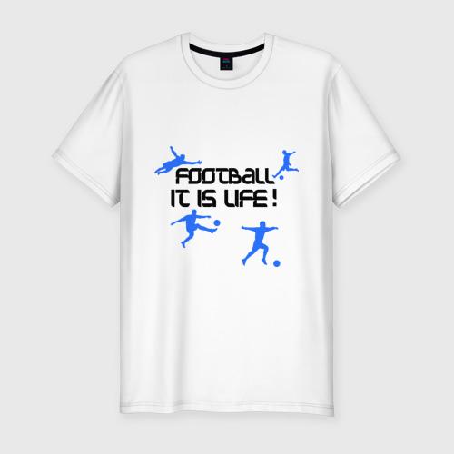Мужская футболка хлопок Slim Football it is live!
