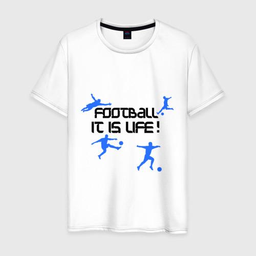 Мужская футболка хлопок Football it is live!