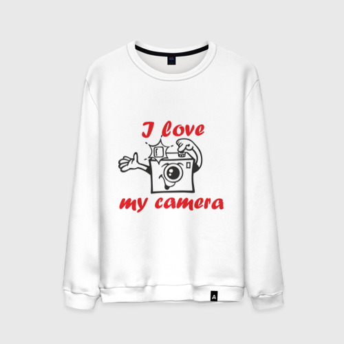 Мужской свитшот хлопок I love my camera