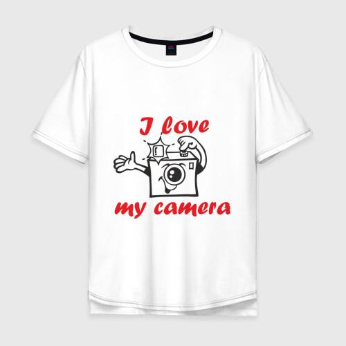 Мужская футболка хлопок Oversize I love my camera