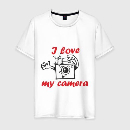 Мужская футболка хлопок I love my camera