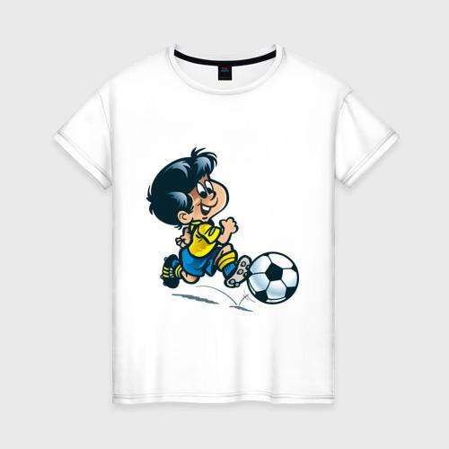 Женская футболка хлопок Футболист (5)