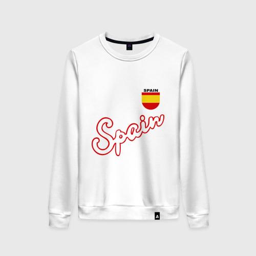 Женский свитшот хлопок Сборной Испании по футболу