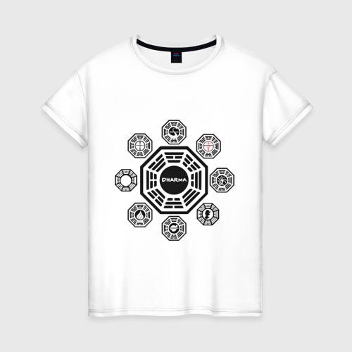 Женская футболка хлопок LOST - Все станции Dharma