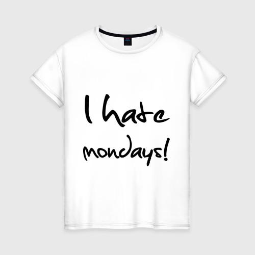 Женская футболка хлопок Нate mondays