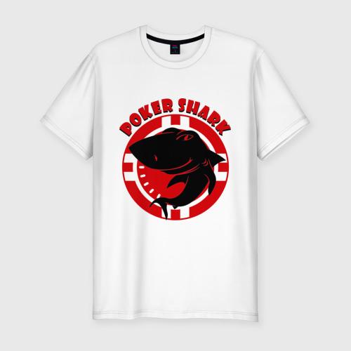 Мужская футболка хлопок Slim Poker shark