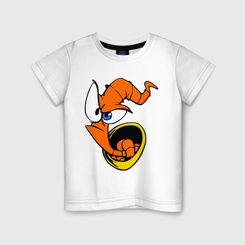 Детская футболка хлопок Червяк Джим (Earthworm jimm)