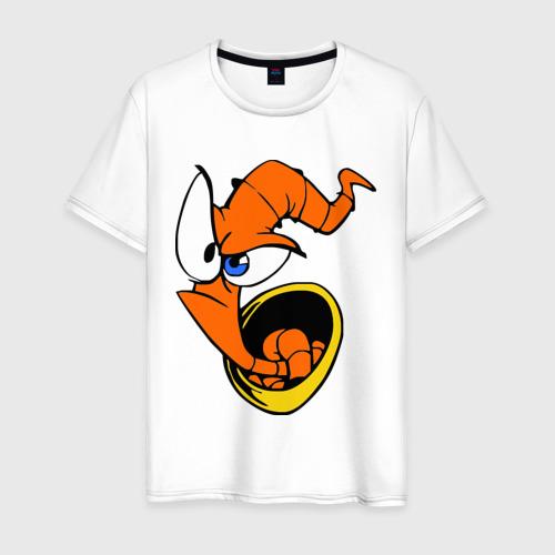 Мужская футболка хлопок Червяк Джим (Earthworm jimm)