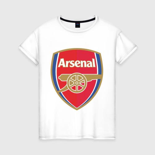 Женская футболка хлопок FA Premier League. Arsenal FC.