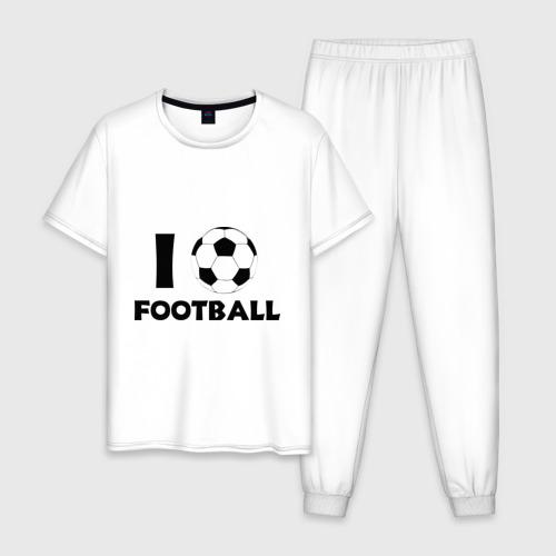 Мужская пижама хлопок I love football