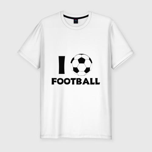 Мужская футболка хлопок Slim I love football