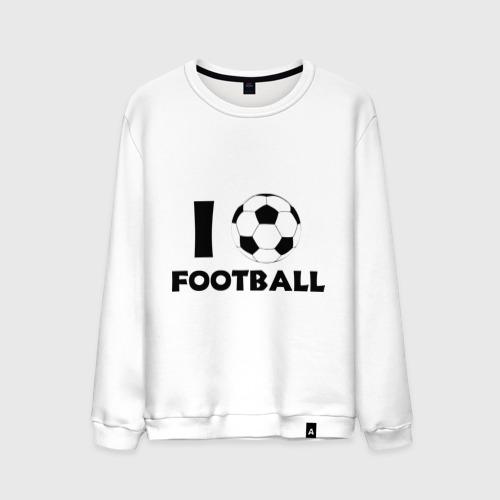 Мужской свитшот хлопок I love football