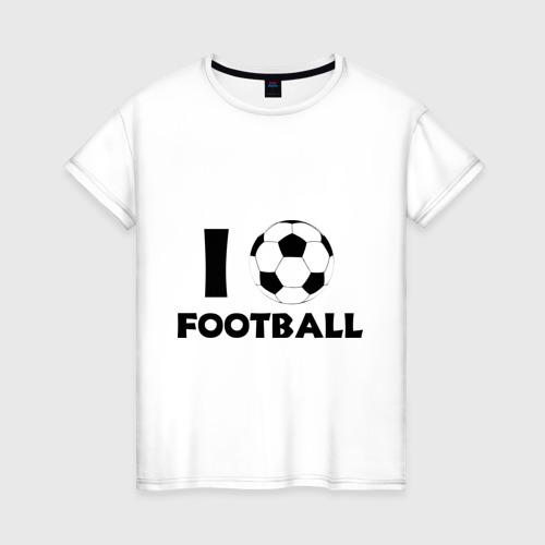 Женская футболка хлопок I love football