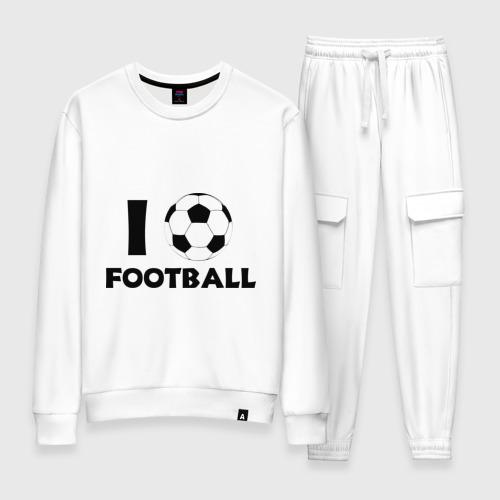 Женский костюм хлопок I love football